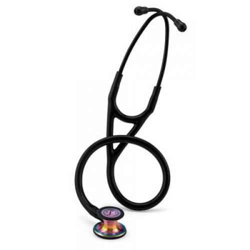 Littmann Cardiología IV Estetoscopio, Tubo Negro, Acabado Rainbow Chestpiece # 6165